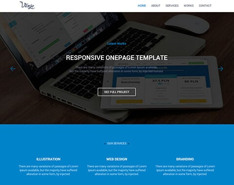 Venjo - Multipurpose HTML5 Template
