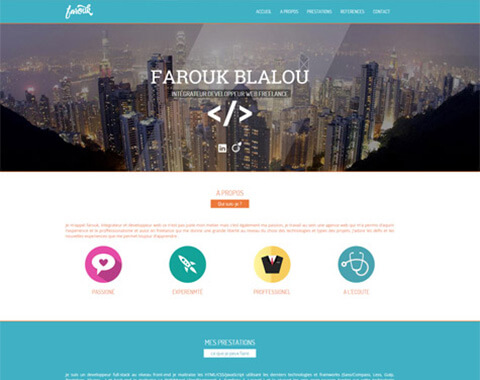 Farouk - My Freelance website